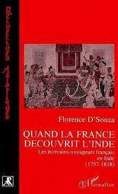 Quand La France Decouvrit L'Inde - Intérieur - Format classique