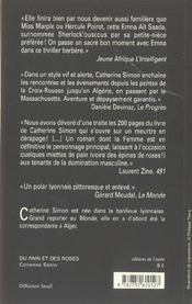 Du Pain Et Des Roses ; Meurtres Ala Croix-Rousse - 4ème de couverture - Format classique