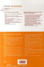 Revue Etudes Irlandaises N.32-1 - 4ème de couverture - Format classique