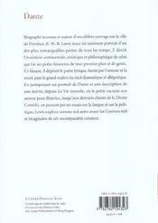 Dante - 4ème de couverture - Format classique