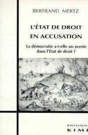 Etat De Droit En Accusation (L') - Couverture - Format classique