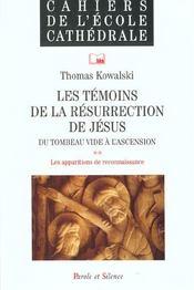 Temoins de la resurrection de jesus n51 - Intérieur - Format classique