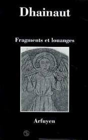 Fragments Et Louanges - Couverture - Format classique