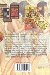 Coffret le tarot des anciens egyptiens - 4ème de couverture - Format classique