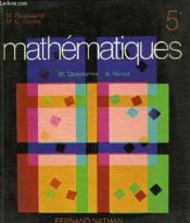 Mathematiques 5e - Couverture - Format classique
