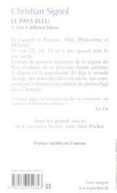 Le pays bleu t.1 ; les cailloux bleus - 4ème de couverture - Format classique