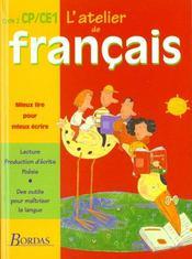 L'ATELIER DE FRANCAIS ; CP/CE1 ; manuel de l'élève - Intérieur - Format classique