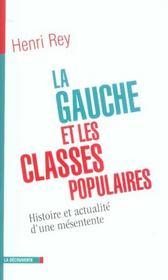 La gauche et les classes populaires - Intérieur - Format classique