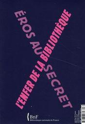 L'Enfer de la bibliothèque ; Eros au secret - 4ème de couverture - Format classique