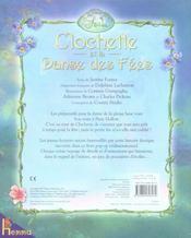 Clochette et la danse des fées - 4ème de couverture - Format classique