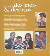 Accords Des Mets Et Des Vins - 4ème de couverture - Format classique