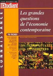 Grandes Questions Economiques Contemporaines 99 - Intérieur - Format classique