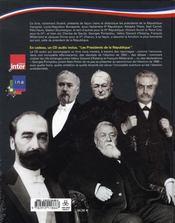 Les présidents de la république - 4ème de couverture - Format classique