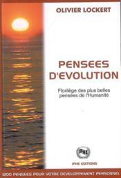 Pensees d'evolution - florilege - Couverture - Format classique