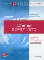 Chimie ; BCPST, Véto, 2ème année - Couverture - Format classique