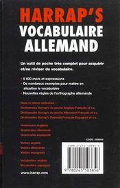 Vocabulaire Allemand - 4ème de couverture - Format classique