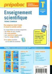 Prépabac cours & entraînement ; enseignement scientifique, tronc commun ; terminale générale - 4ème de couverture - Format classique
