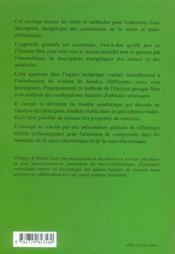 Description Energetique Des Constituants De La Micro Et Nano-Electronique - 4ème de couverture - Format classique