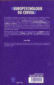 Neuropsychologie du cerveau/neuropsychologie du cerveau/relations categorielles cerveau-pensee - 4ème de couverture - Format classique