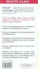 Master class ; pêchés mortels en marketing ; symptômes et solutions - 4ème de couverture - Format classique