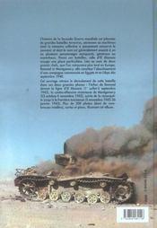 El alamein - 4ème de couverture - Format classique