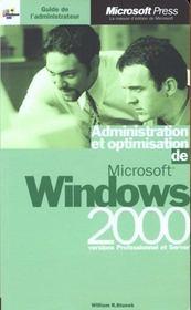Guide De L'Administrateur ; Microsoft Windows 2000 - Intérieur - Format classique