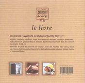 Le livre nestlé dessert - 4ème de couverture - Format classique