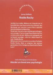 Le Ranch De La Pleine Lune T.2 ; Rodeo Rocky - 4ème de couverture - Format classique