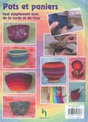 Pots en corde - 4ème de couverture - Format classique