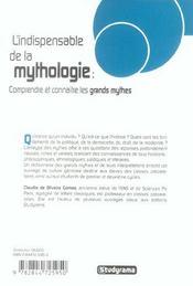 L'Indispensable De La Mythologie - 4ème de couverture - Format classique