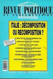 Rpp T.968 Novembre-Decembre 1993 ; Italie - Couverture - Format classique
