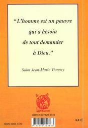 Saint jean-marie vvanney - le cure d'ars - 4ème de couverture - Format classique
