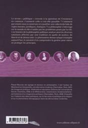 Petite histoire de la philosophie politique - 4ème de couverture - Format classique