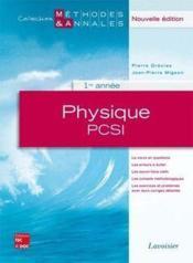 Physique ; physique PSCI ; 1re année - Couverture - Format classique