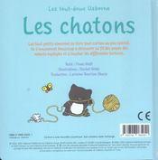 Les chatons - 4ème de couverture - Format classique