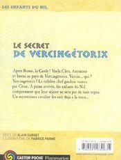 Les enfants du Nil T.6 ; le secret de Vercingétorix - 4ème de couverture - Format classique