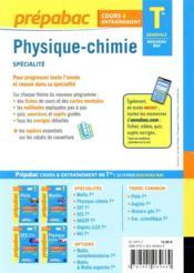 Prépabac cours & entraînement ; physique-chimie, spécialité ; terminale générale (édition 2020/2021) - 4ème de couverture - Format classique