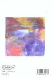 REVUE DECHARGE N.124 ; Décembre 2004 - 4ème de couverture - Format classique