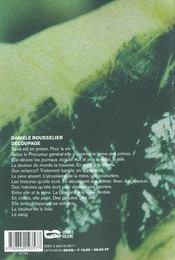 Decoupage - 4ème de couverture - Format classique