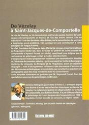 De vezelay a saint-jacques-de-compostelle - 4ème de couverture - Format classique