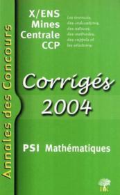 Annales Mathematiques Psi - Couverture - Format classique