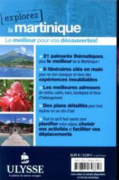 EXPLOREZ ; la Martinique (édition 2020) - 4ème de couverture - Format classique