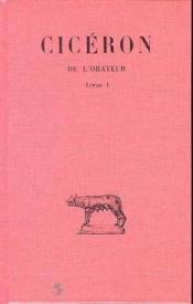 De l'orateur ; livre I - Couverture - Format classique