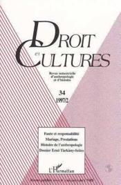 Droit Et Cultures N°34 - Couverture - Format classique