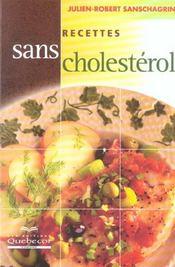 Recettes Sans Cholesterol - Intérieur - Format classique