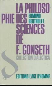 Philosophie Sciences De F.Gonseth - Couverture - Format classique