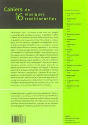 Cahiers De Musiques Traditionnelles T.16 ; Musiques A Voir - 4ème de couverture - Format classique