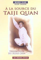 A La Source Du Taiji Quan - Intérieur - Format classique