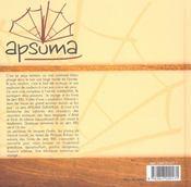 Apsuma dans les traces de j0rn riel - 4ème de couverture - Format classique