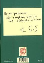 Le Pardon Qui Desenchaine - 4ème de couverture - Format classique